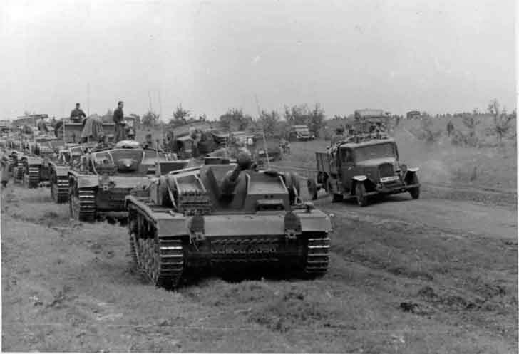 German 6th army advances towards Stalingrad