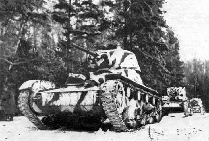 T-26 in the attack in the Battle of Moscow