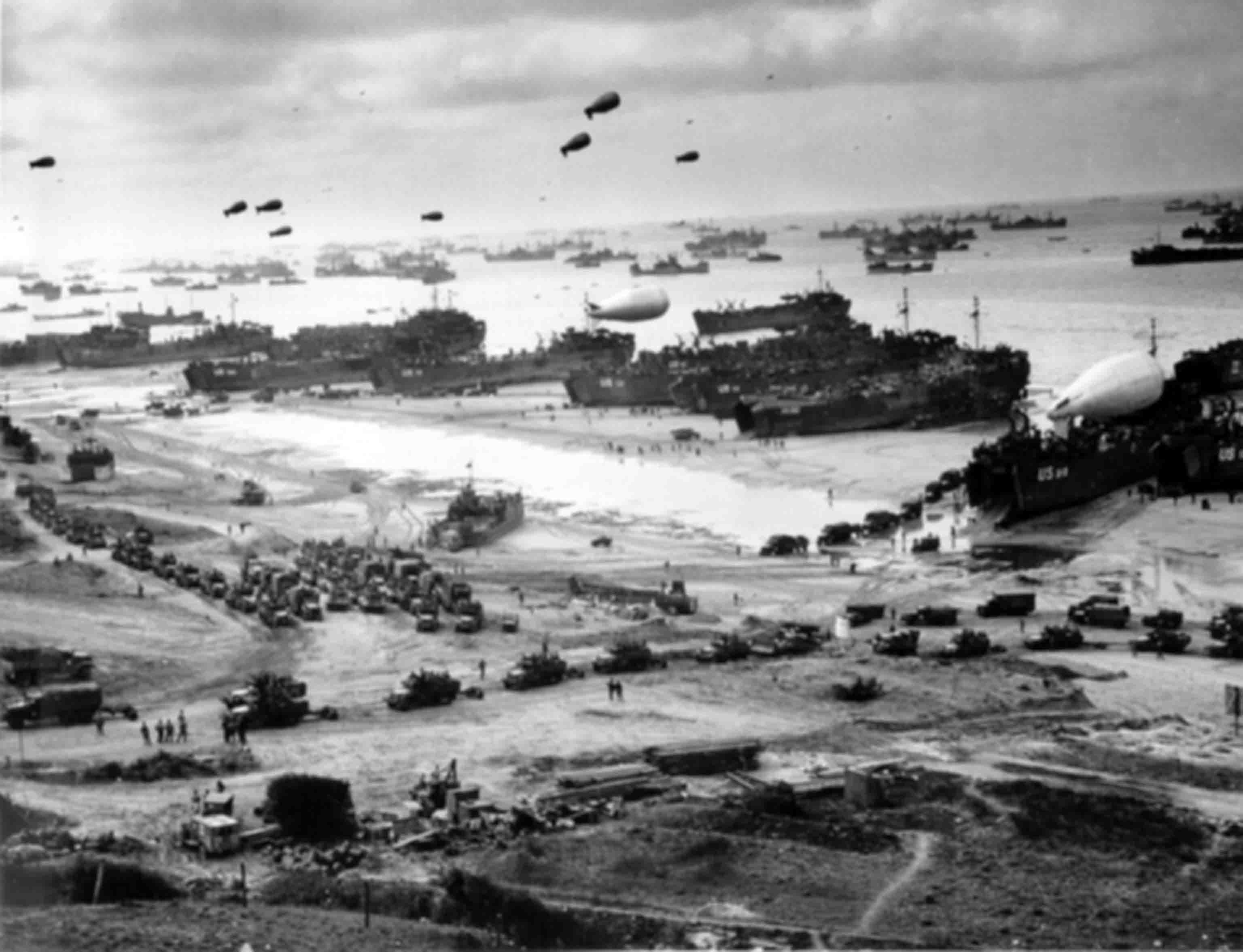 World War 2: Panoramic photo Omaha beach