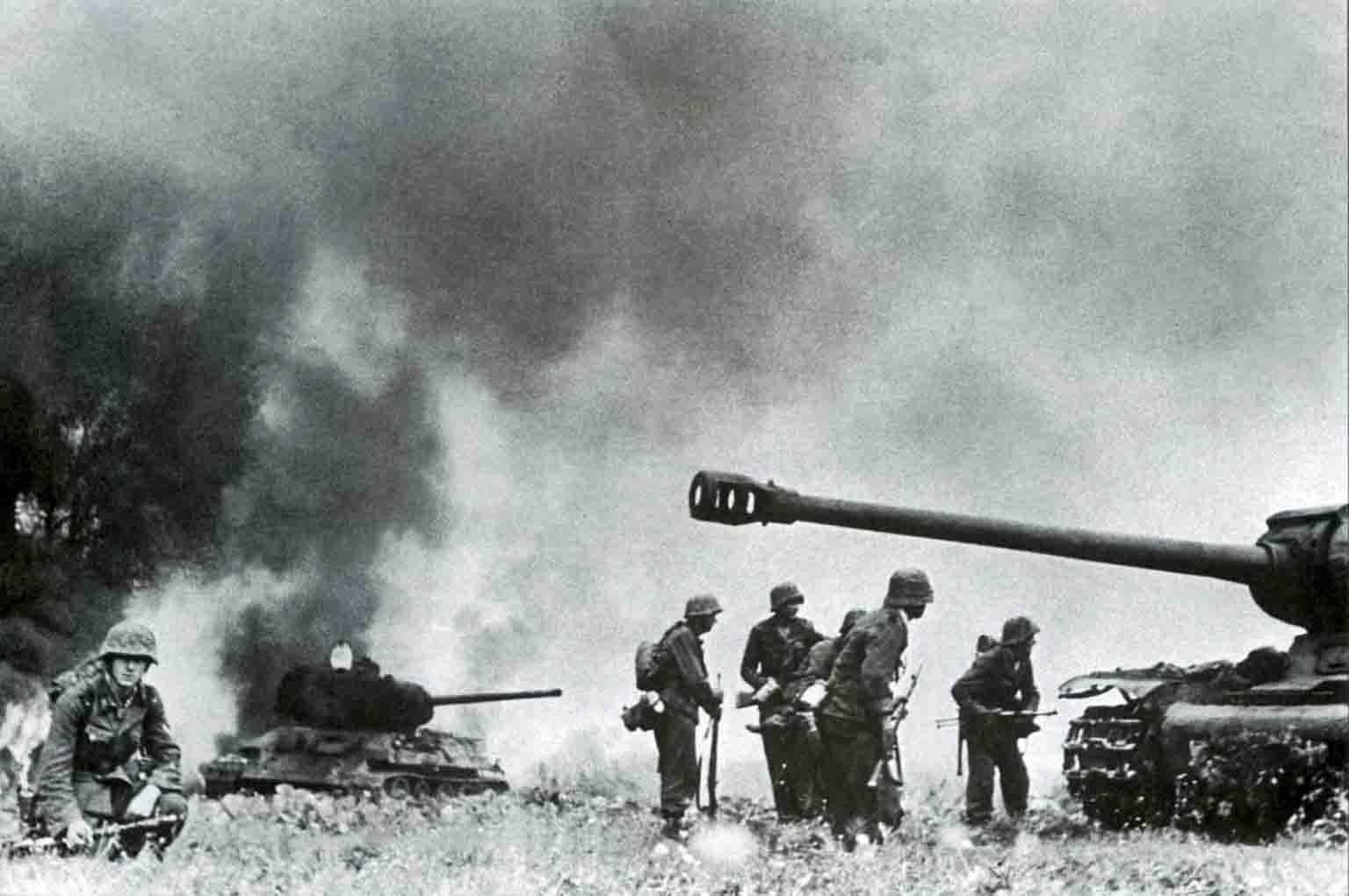JS-2, T-34-85