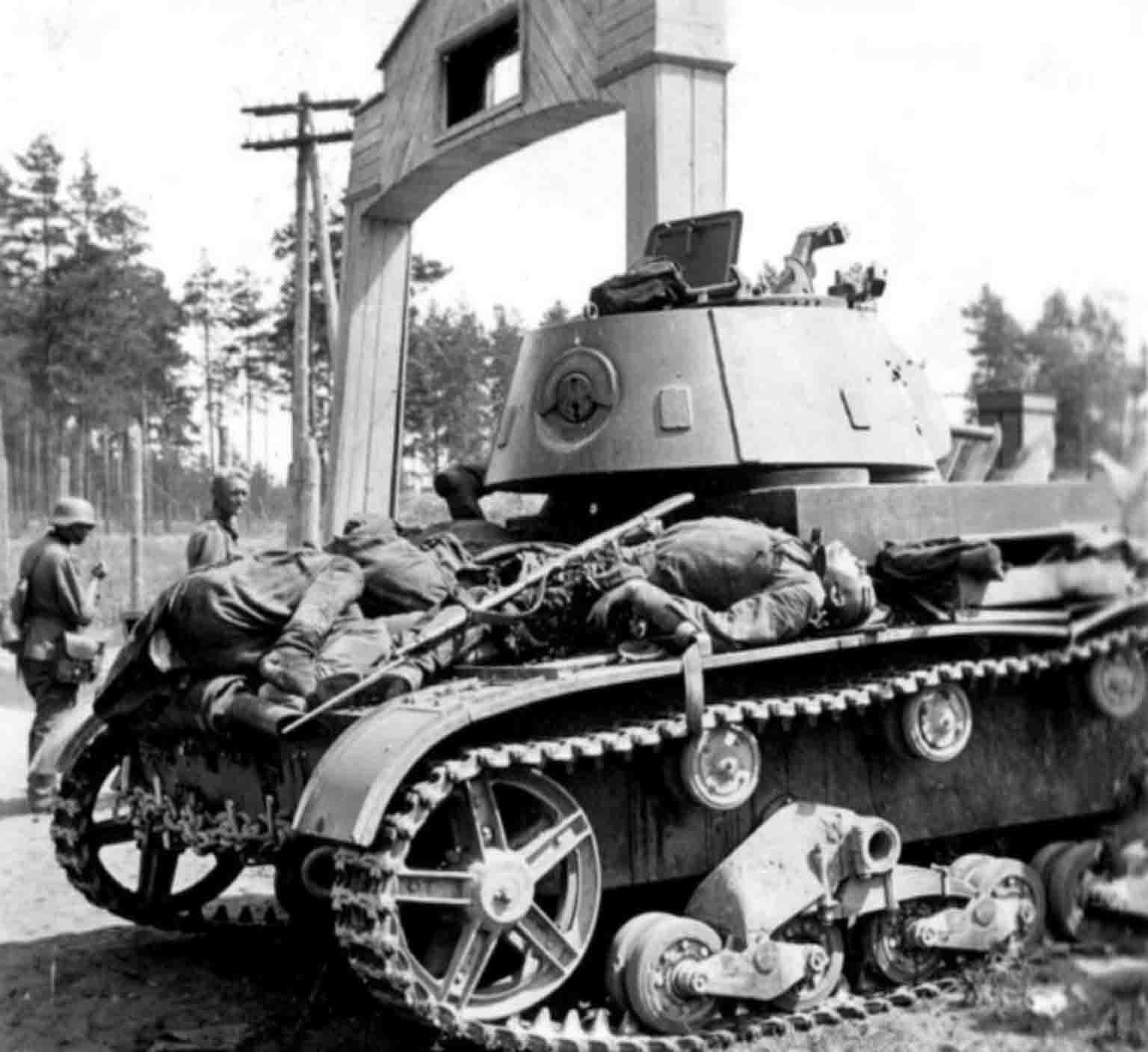 Destroyed T-26
