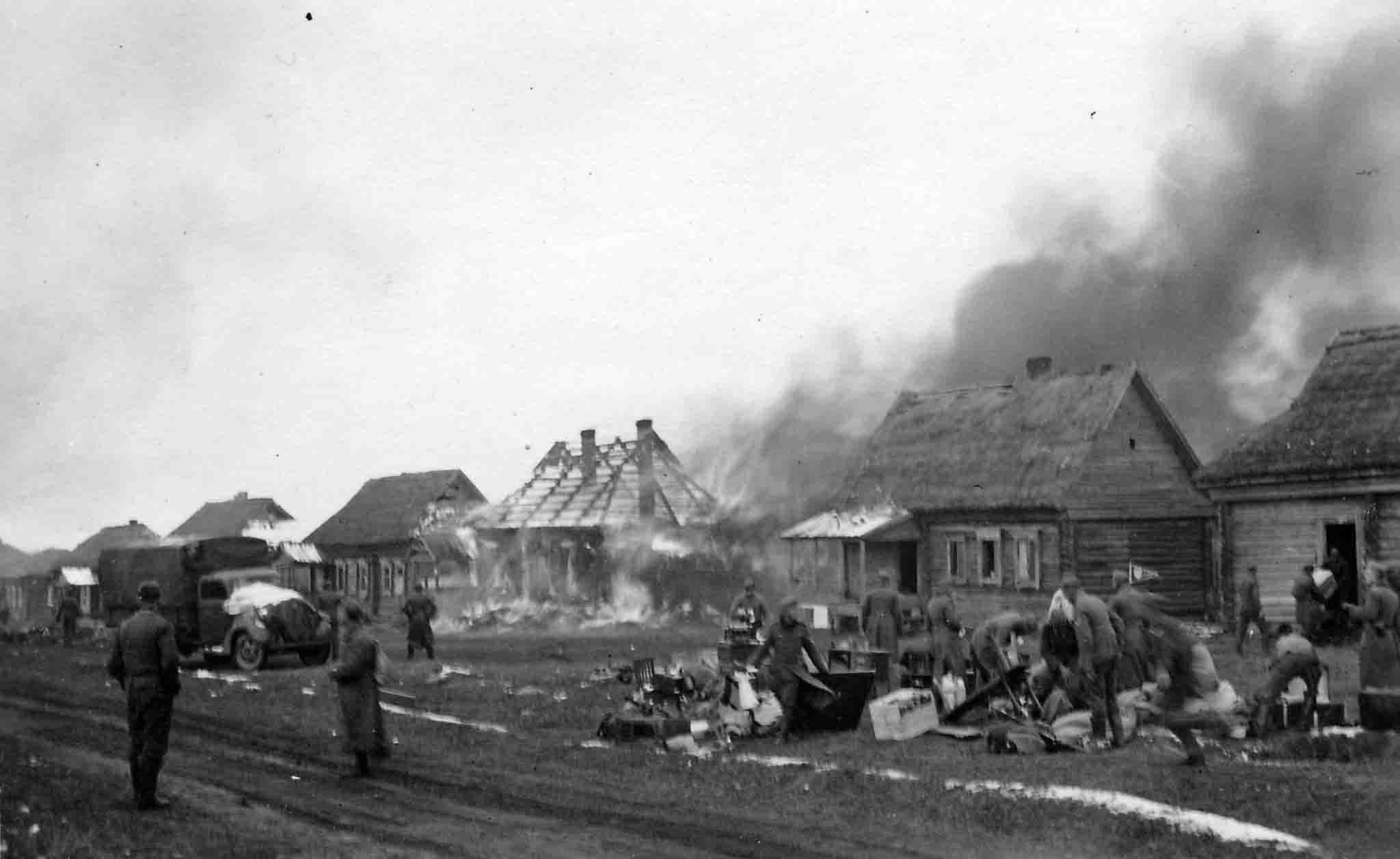 German-occupied village