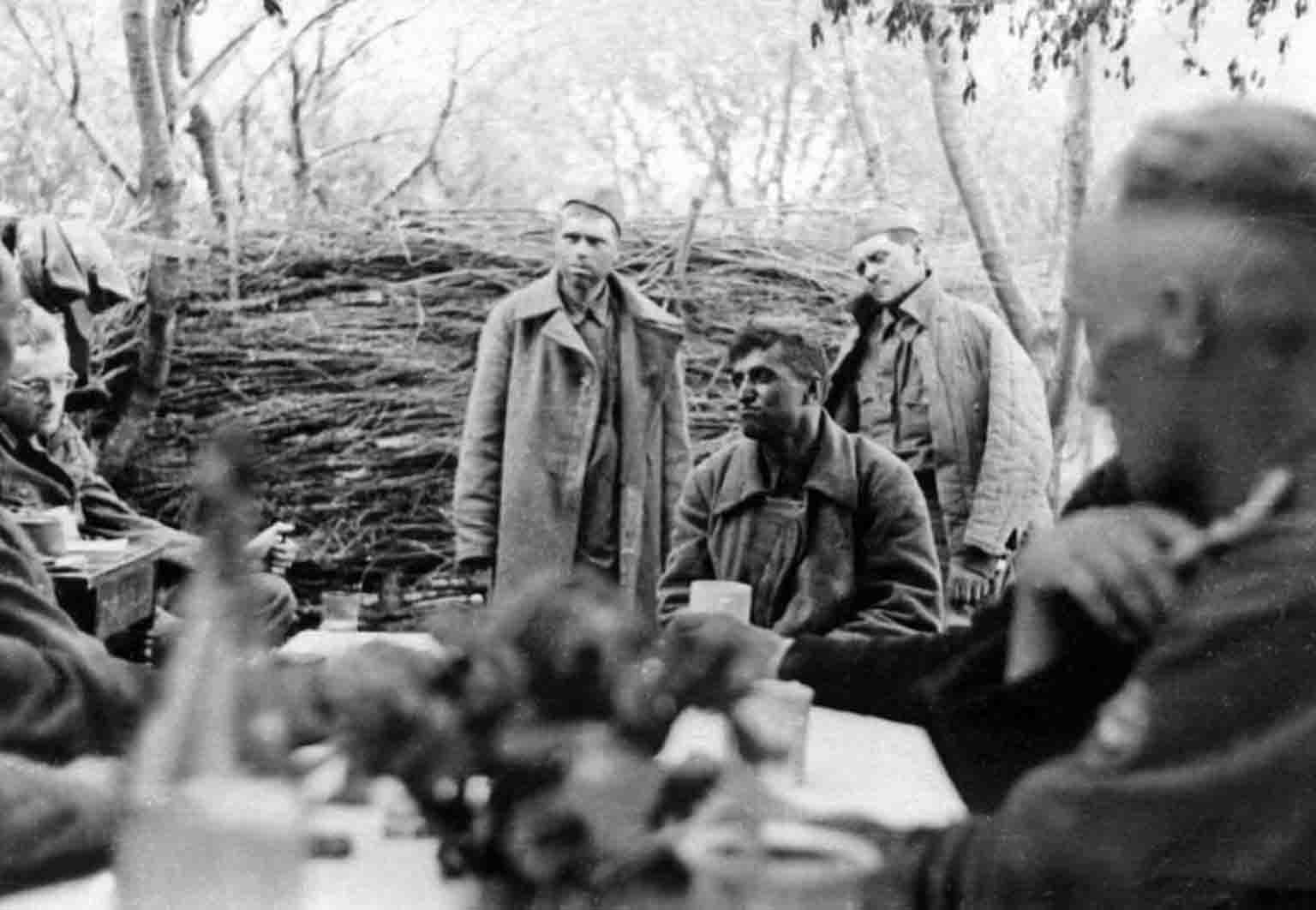 Red Army men during interrogation