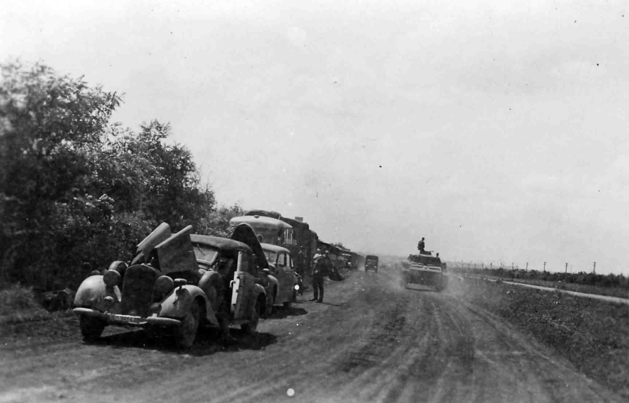 German auto convoy