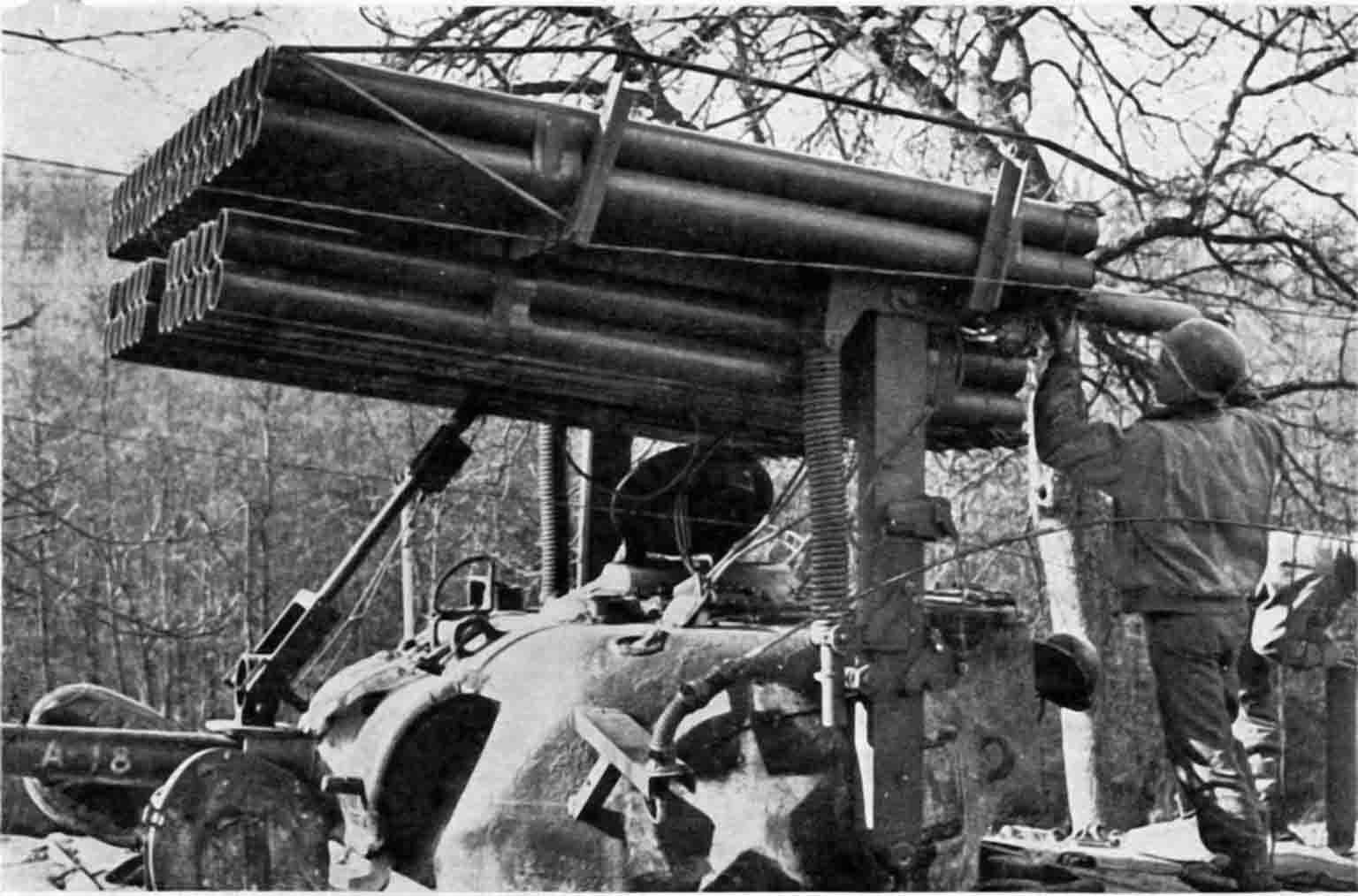 "T34 ""Calliope"" launcher"