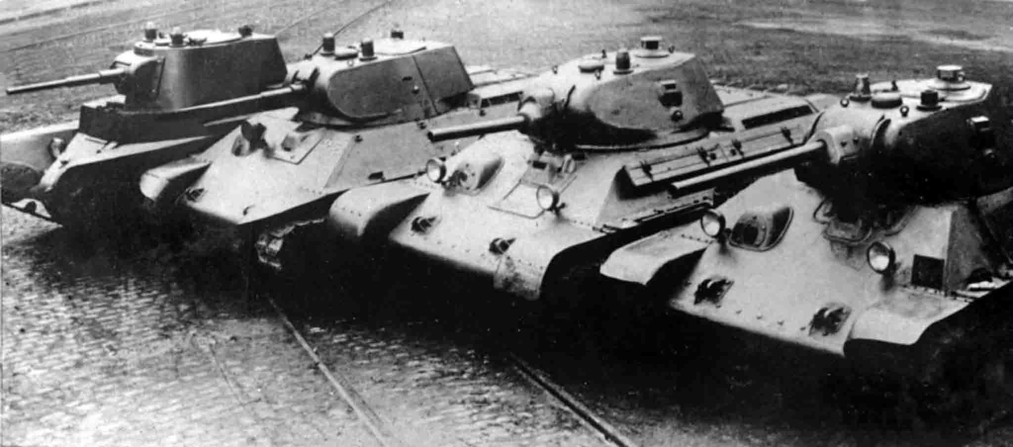 BT-7, A-20, T-34