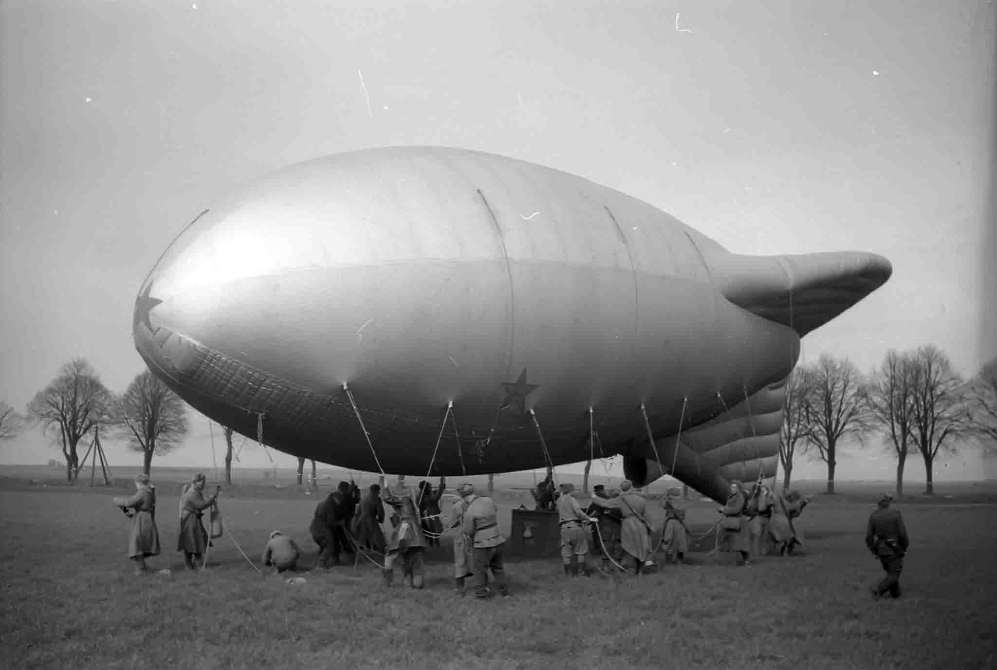 aerostat from the air observation