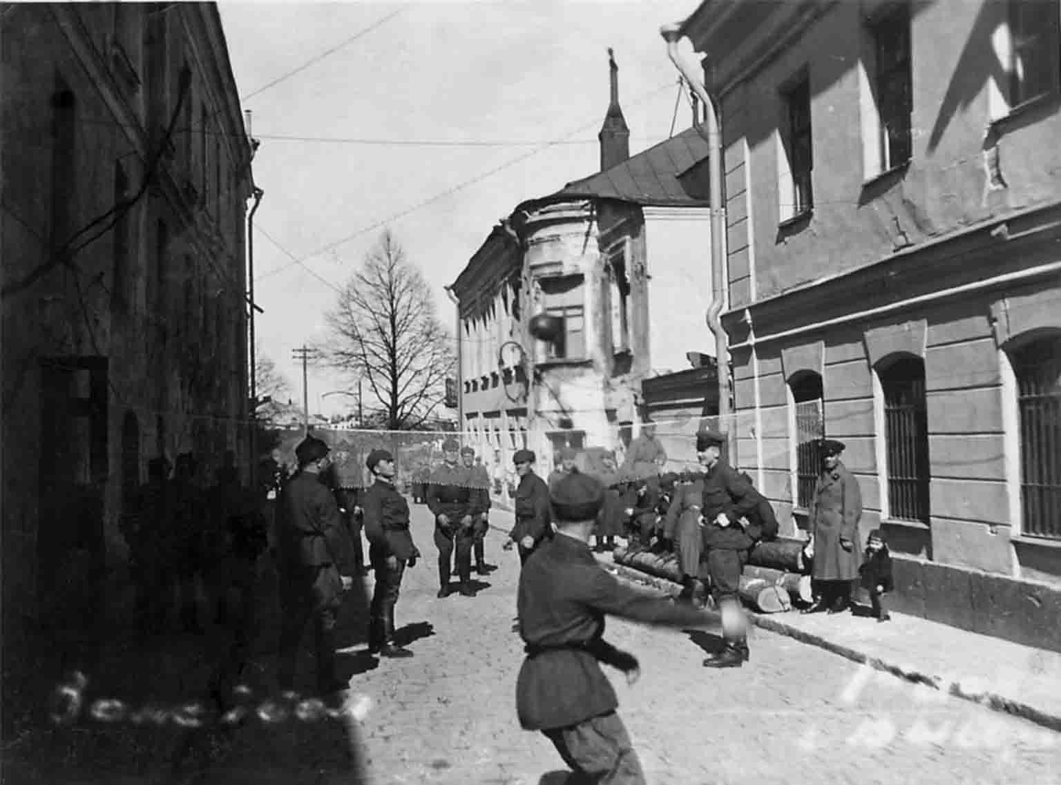 Red Army soldiers in Vyborg