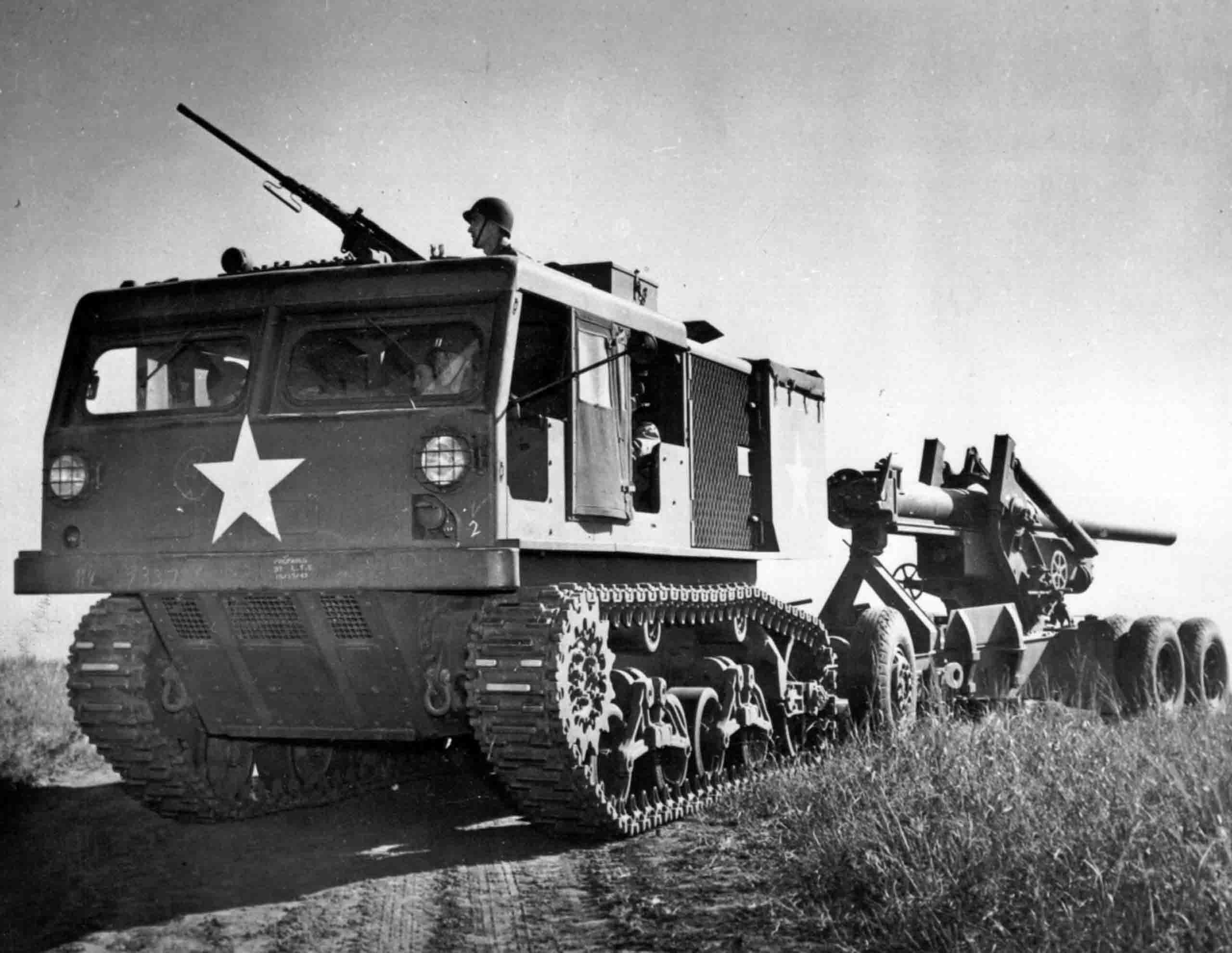 tractor M4, howitzer M2