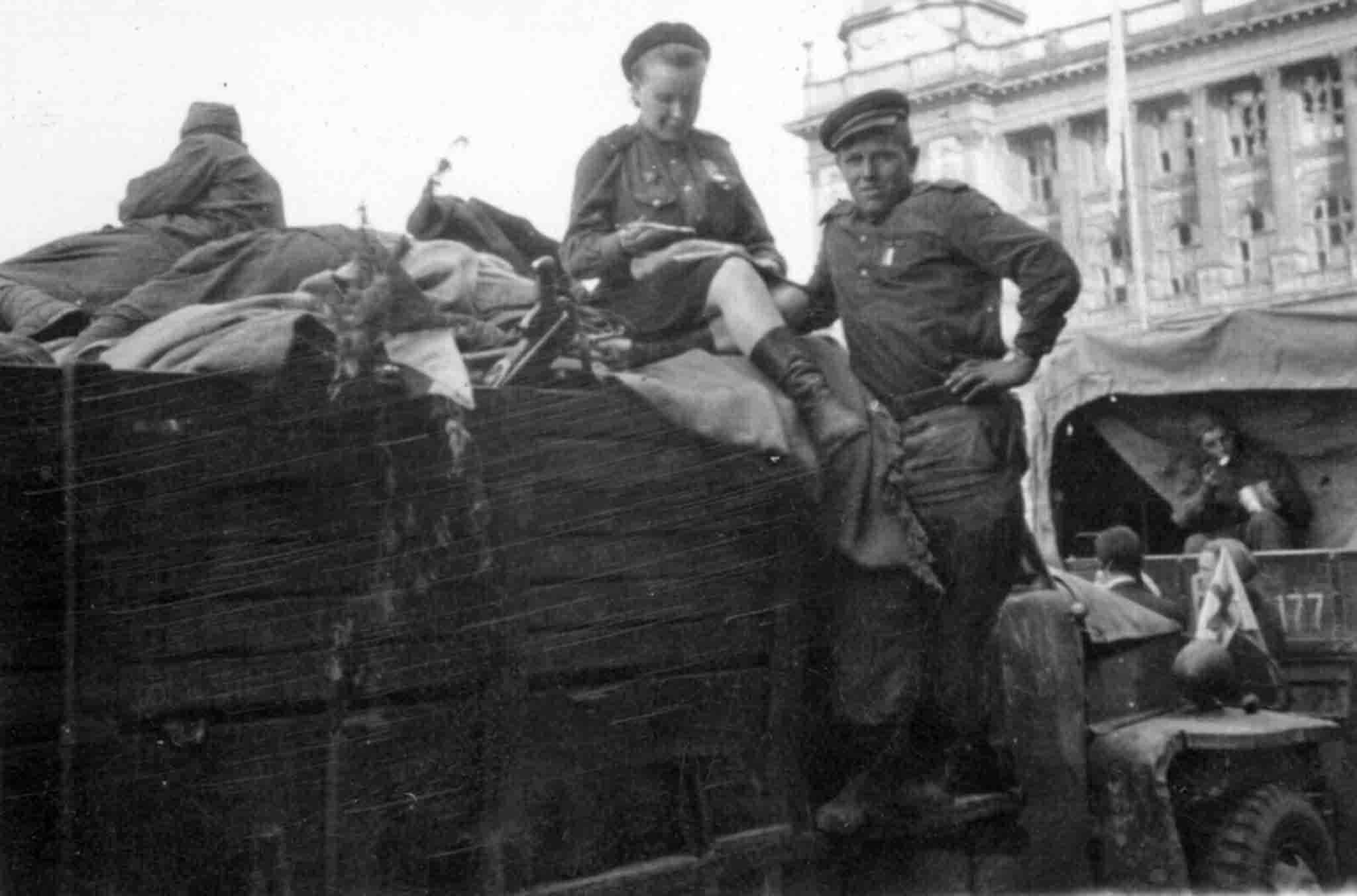 Soviet soldiers in Prague