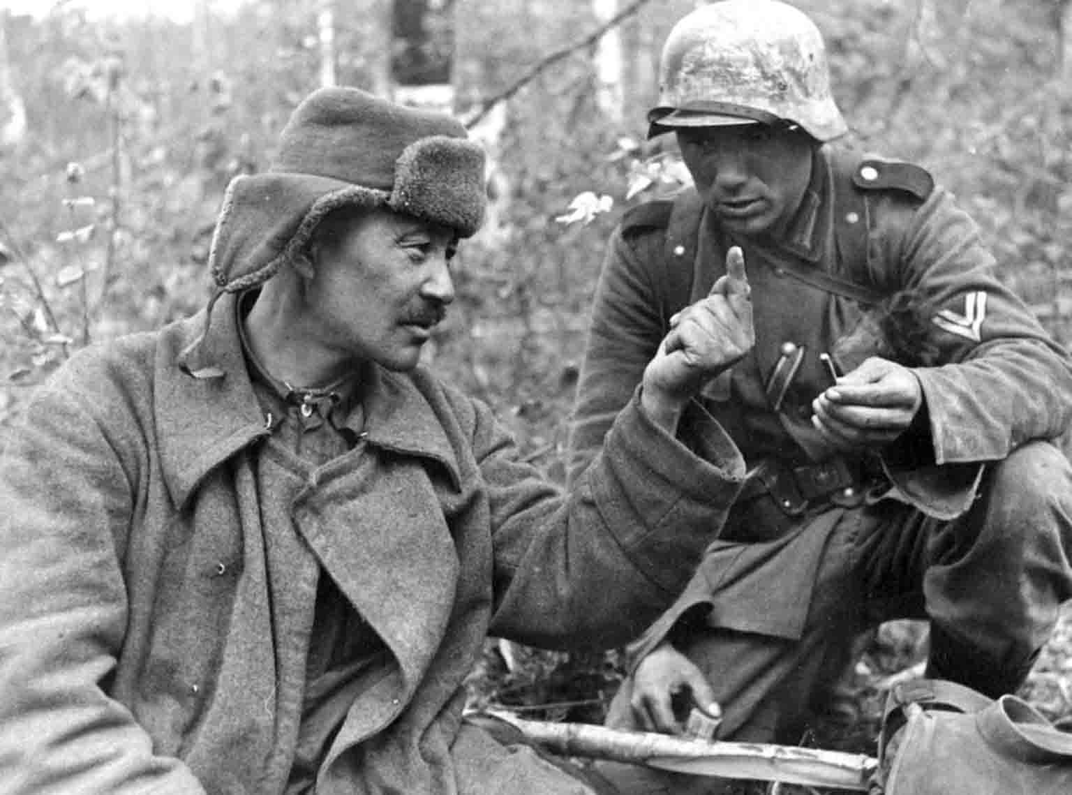 Captured Soviet soldier