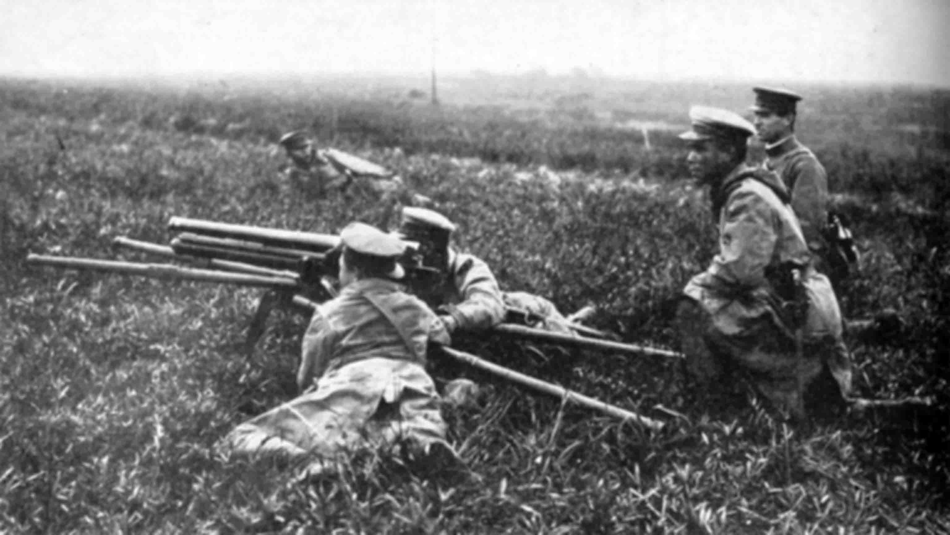 Japanese artillery team