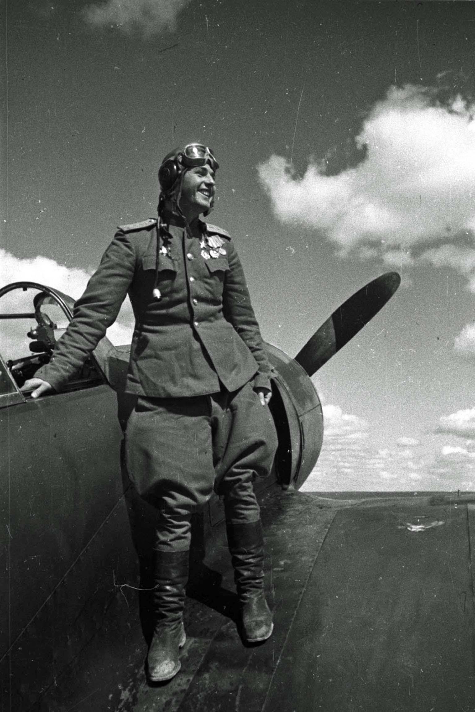 Soviet fighter pilot