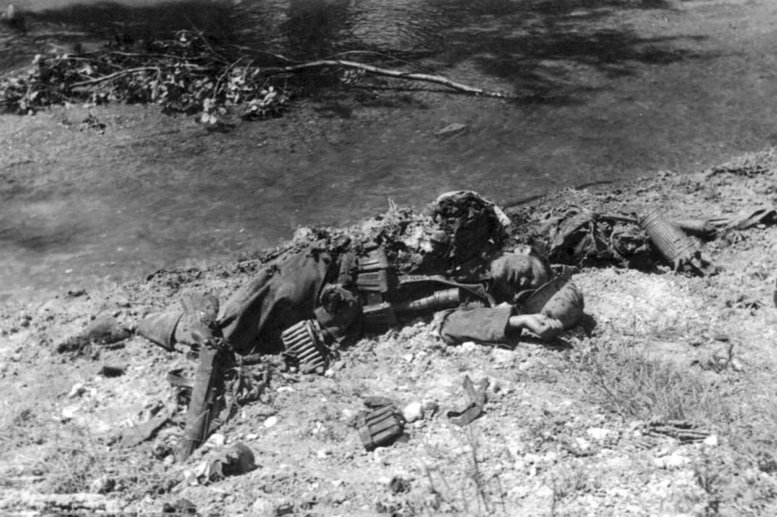 corpse of a German soldier