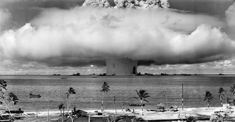 Nuclear explosion Baker on Bikini Atoll