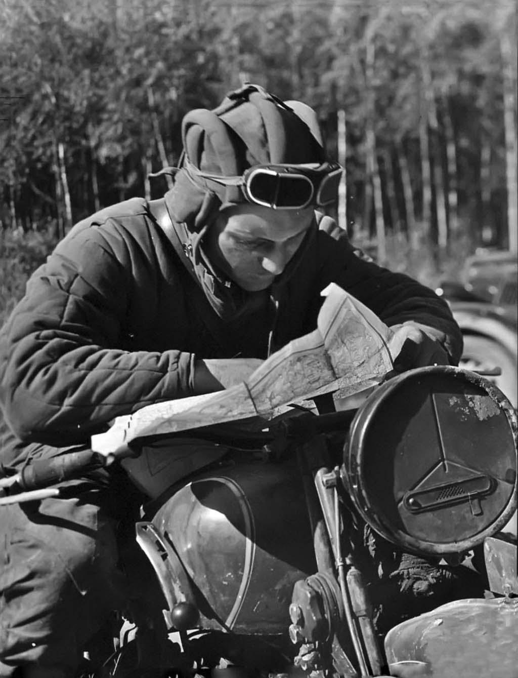 Soviet motorcyclist