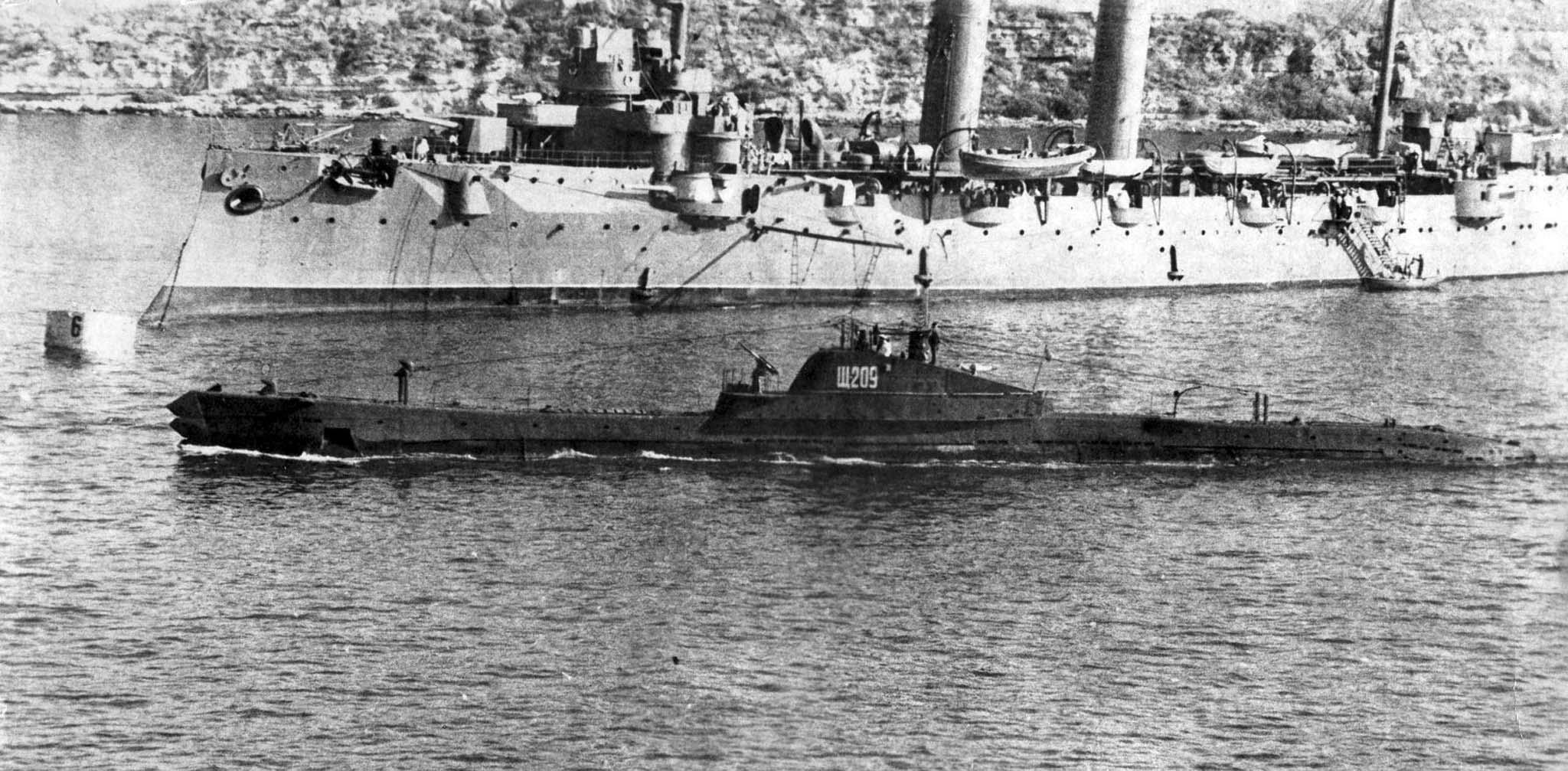 Shch-209, cruiser Comintern