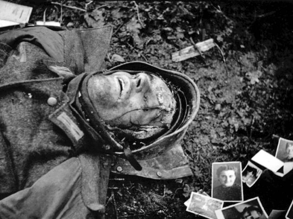 A dead German soldier