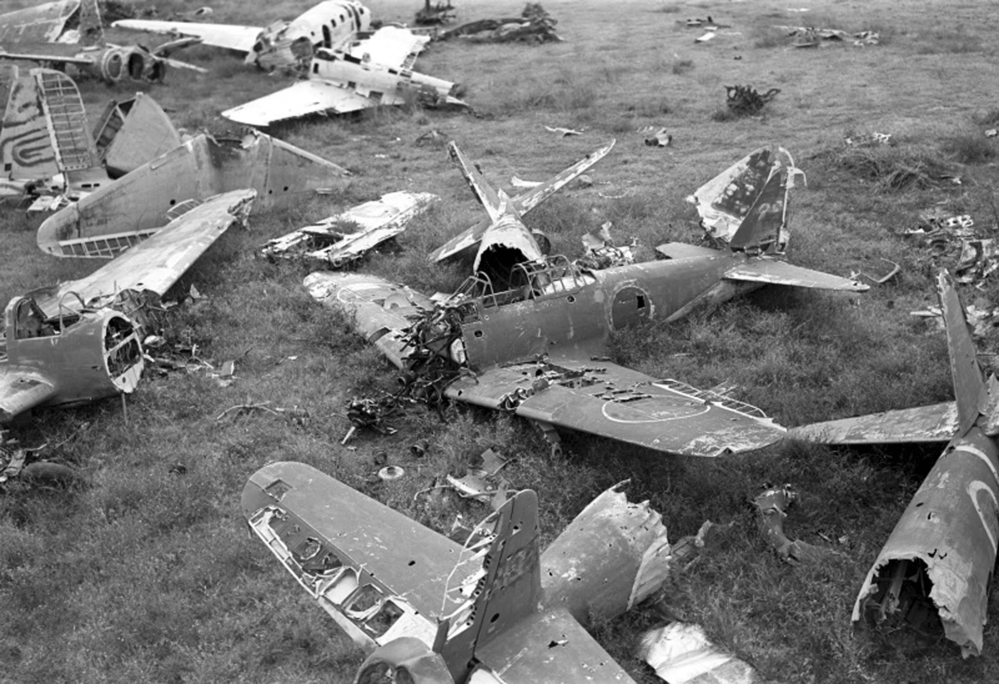 broken aircraft