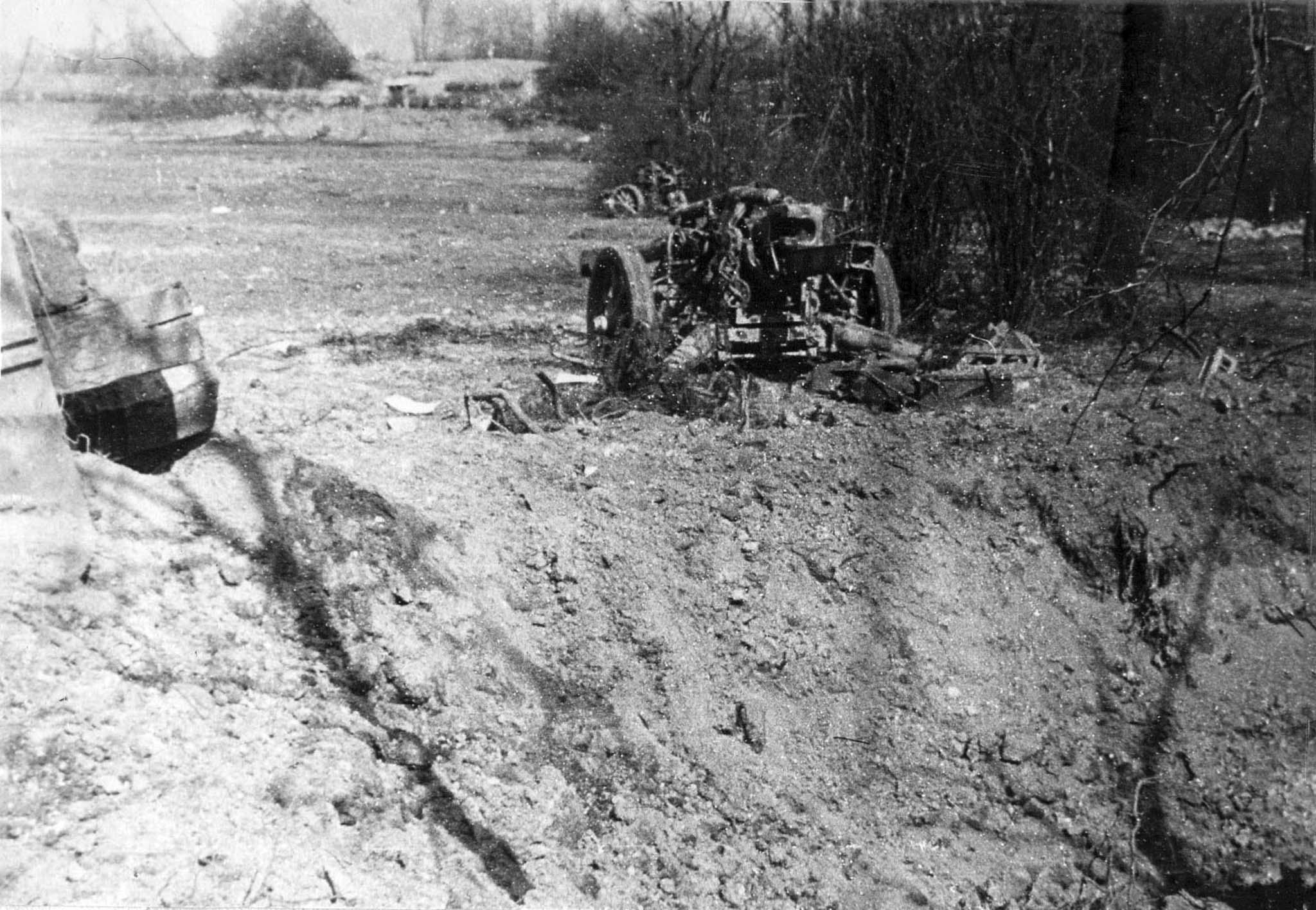 destroyed artillery battery