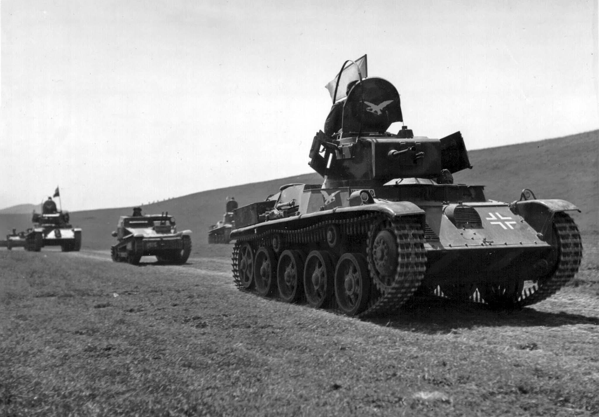 Hungarian tank convoy