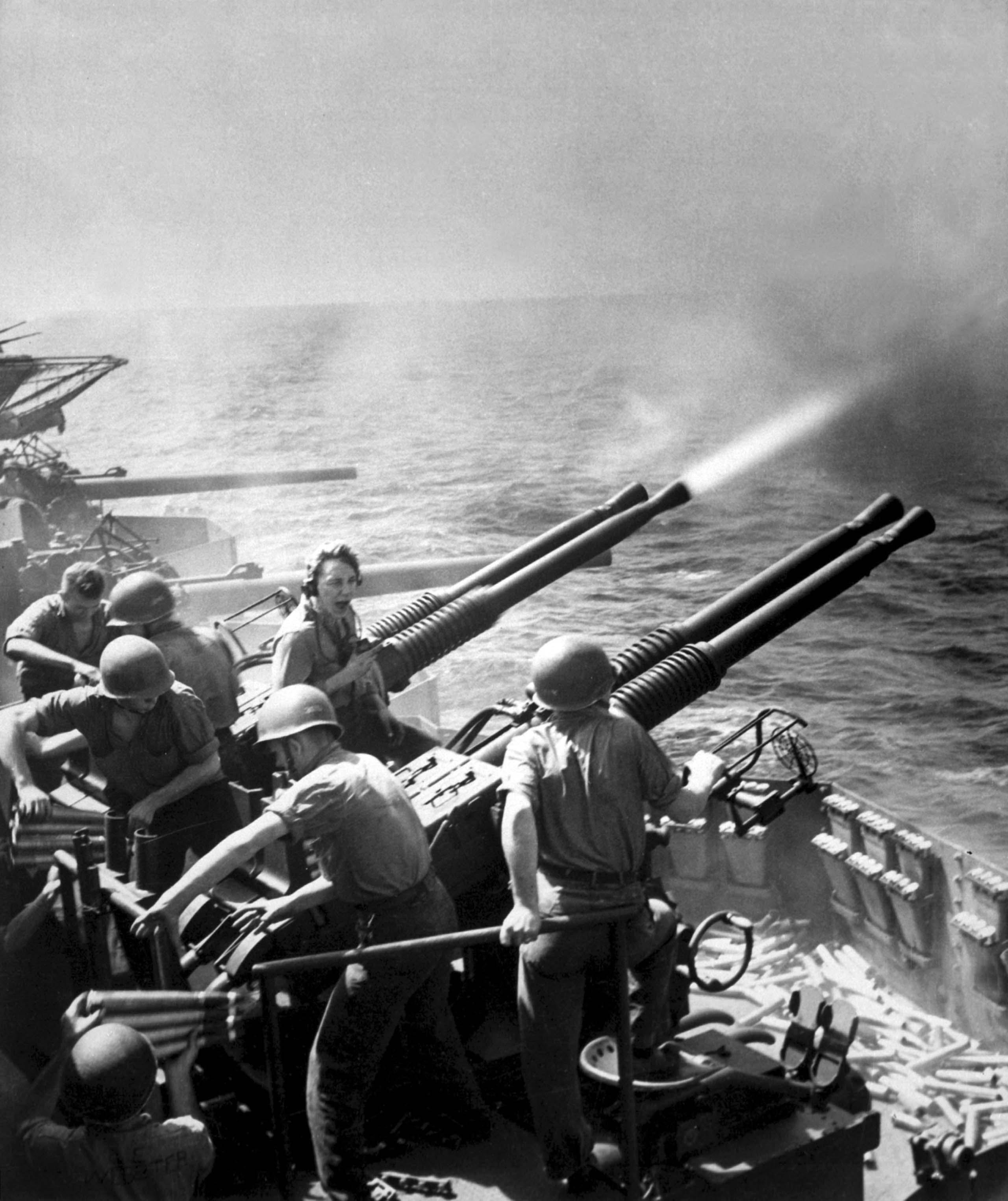 Bofors anti-aircraft guns