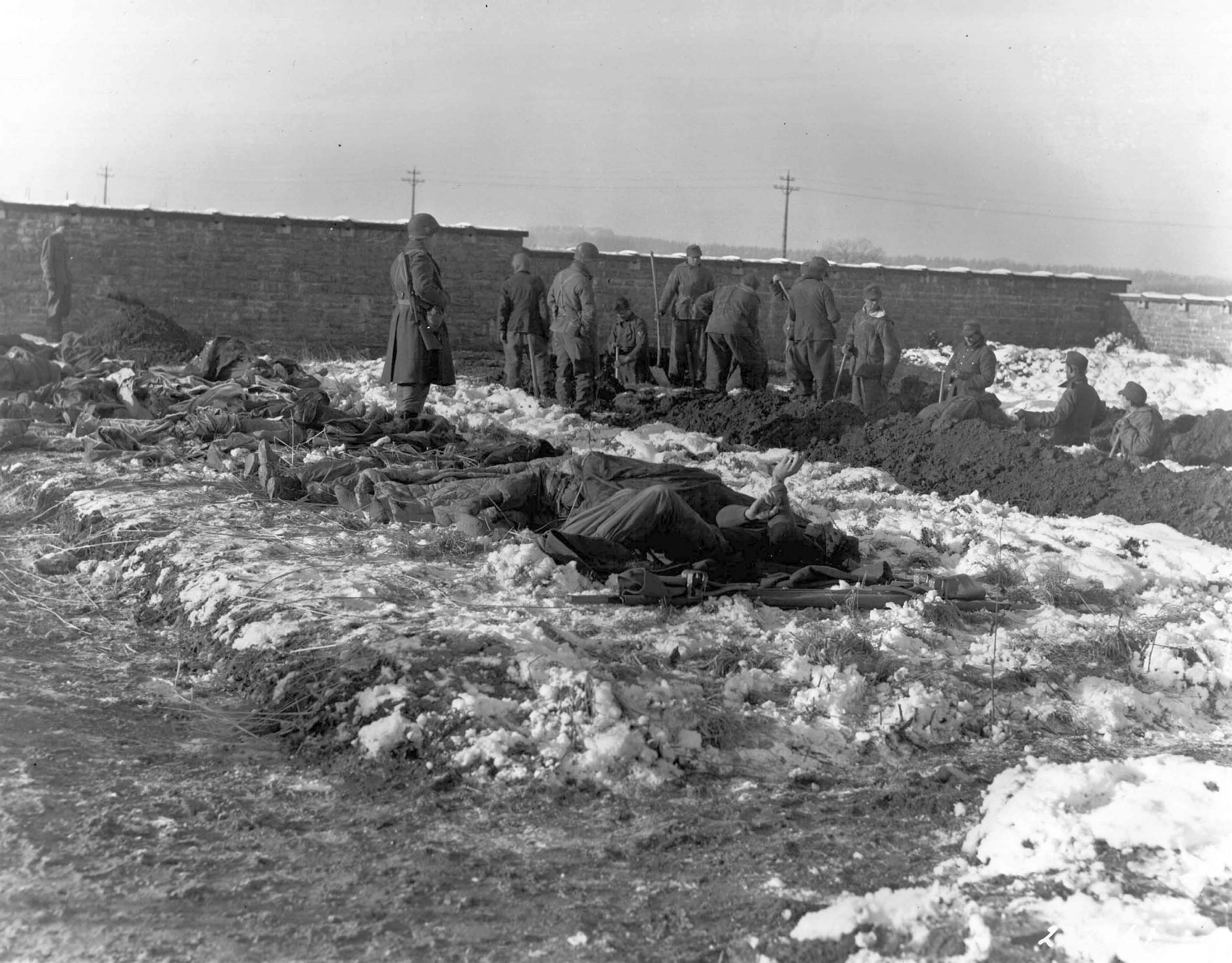German prisoners, American soldiers