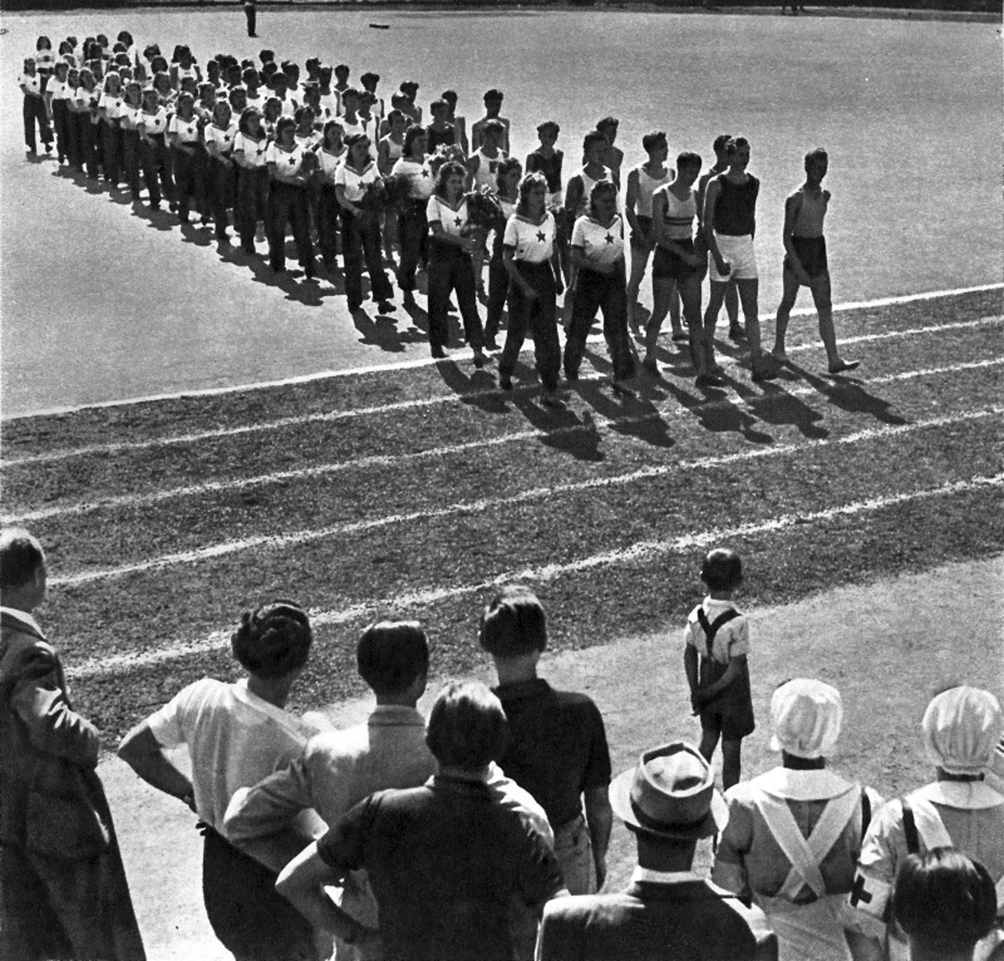 Parade of athletes