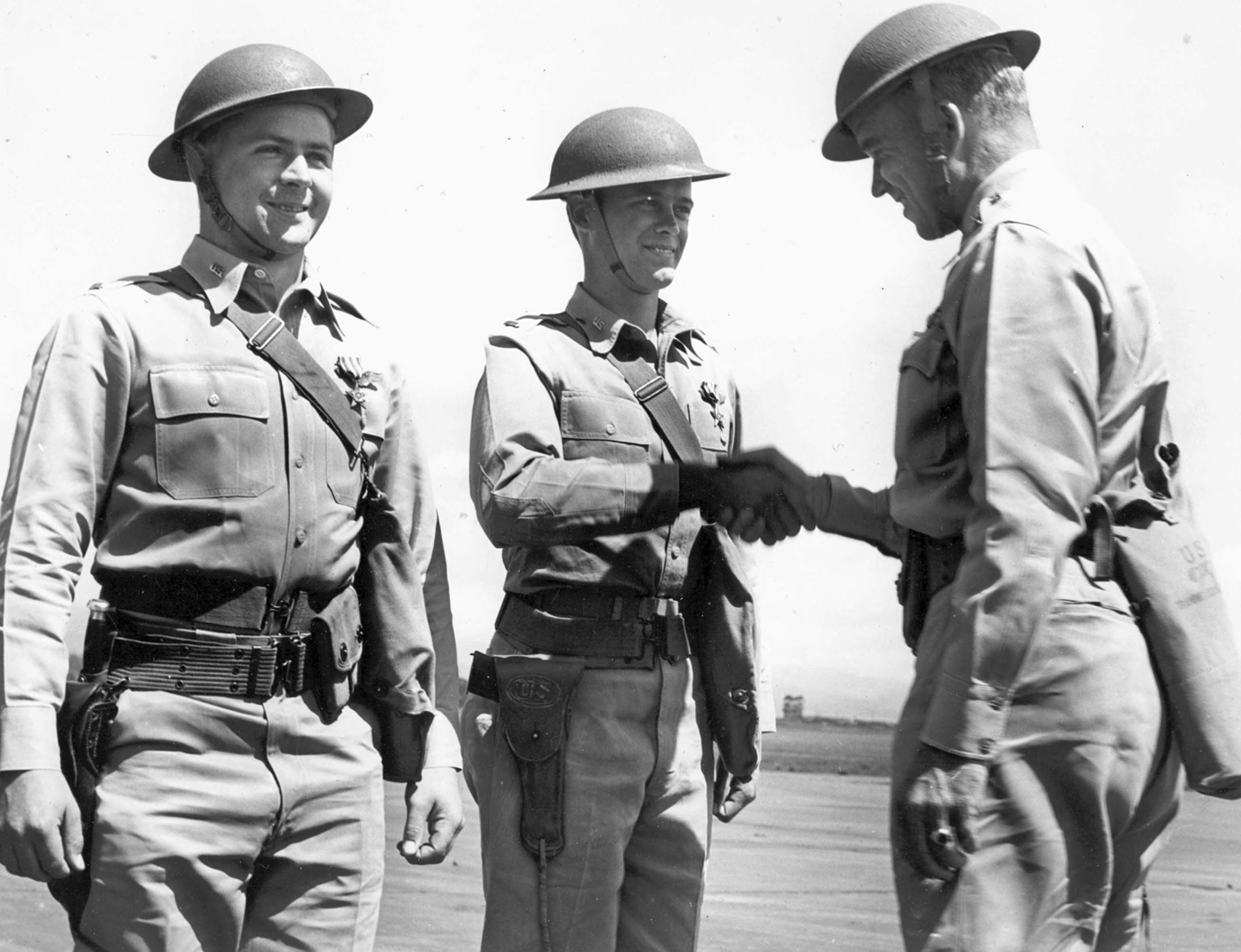 Awarding American officers