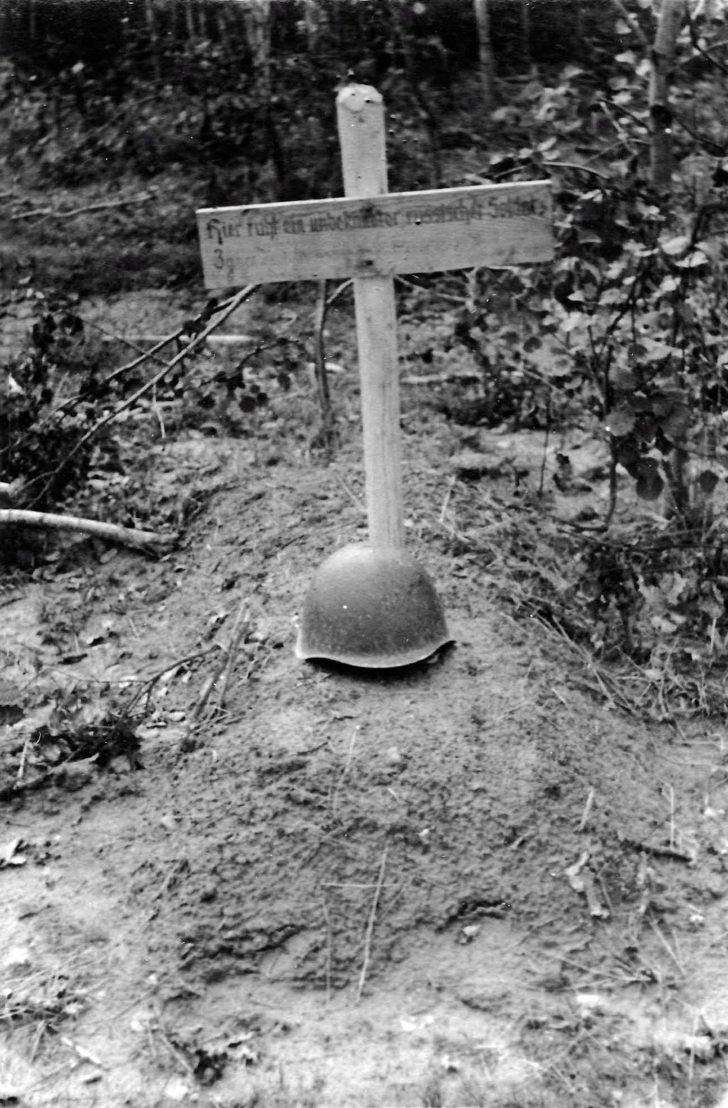 Grave of a Russian soldier