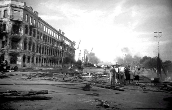 Stalingrad after the first Luftwaffe raids