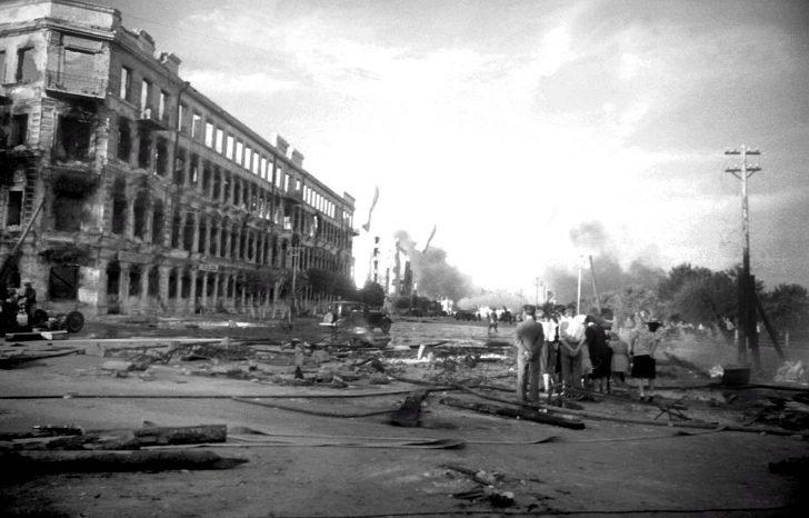Stalingrad after the first Luftwaffe raids