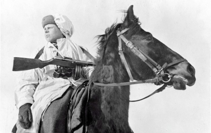 mounted front-line scout