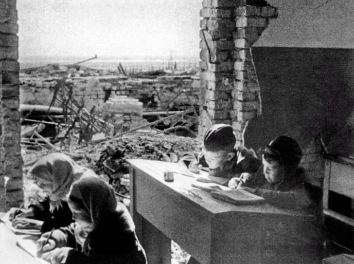 school in Stalingrad