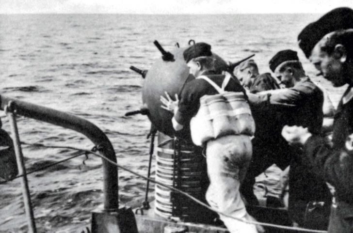 German warship