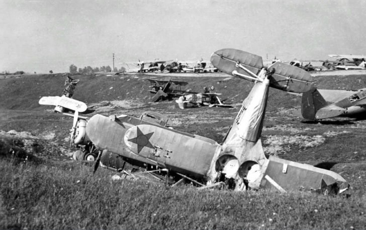 Destroyed Soviet aircraft