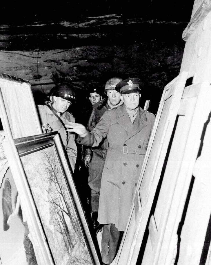 Dwight Eisenhower, Omar Bradley, George Patton