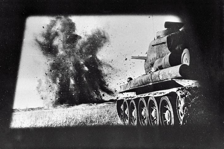 T-34-85 in battle