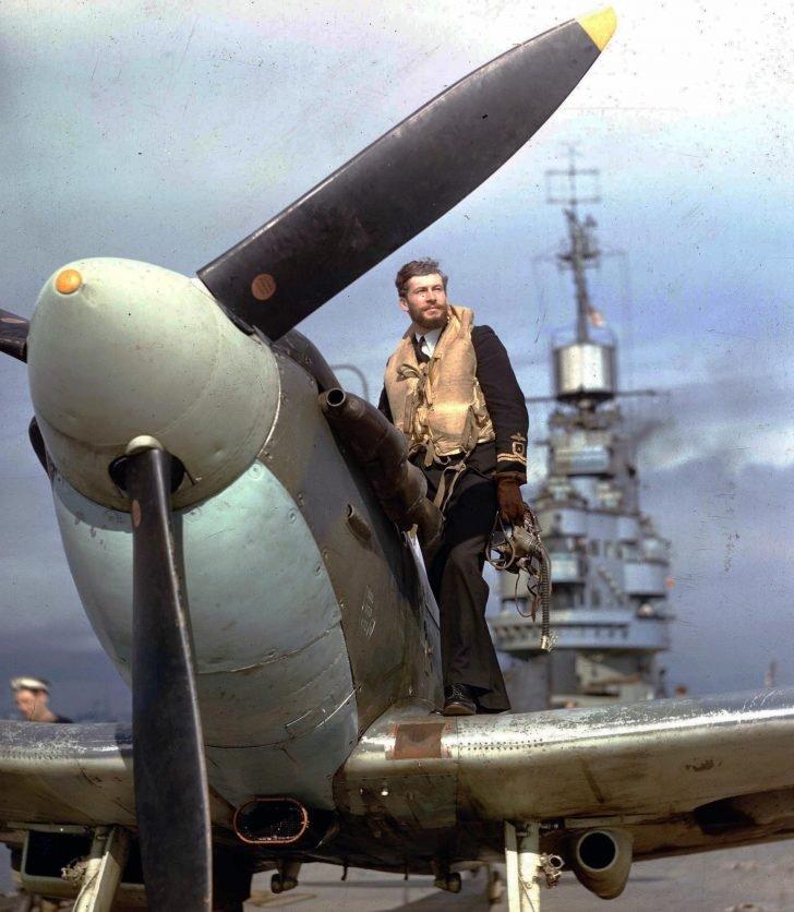 pilot of  Seafire Mk.I