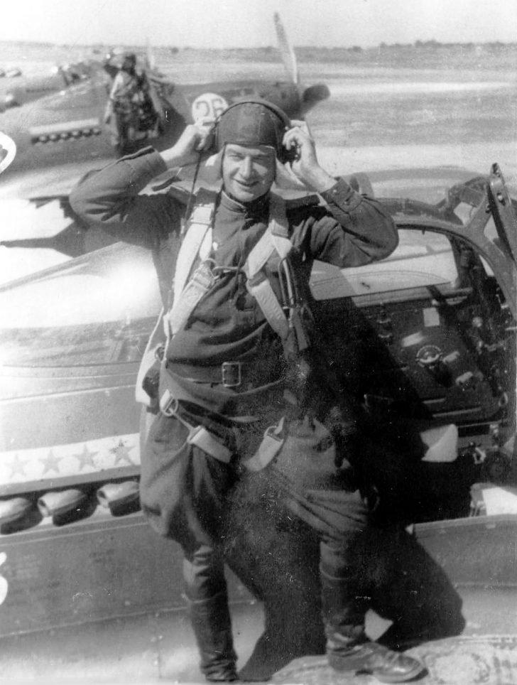 Soviet pilot Georgy Basenko