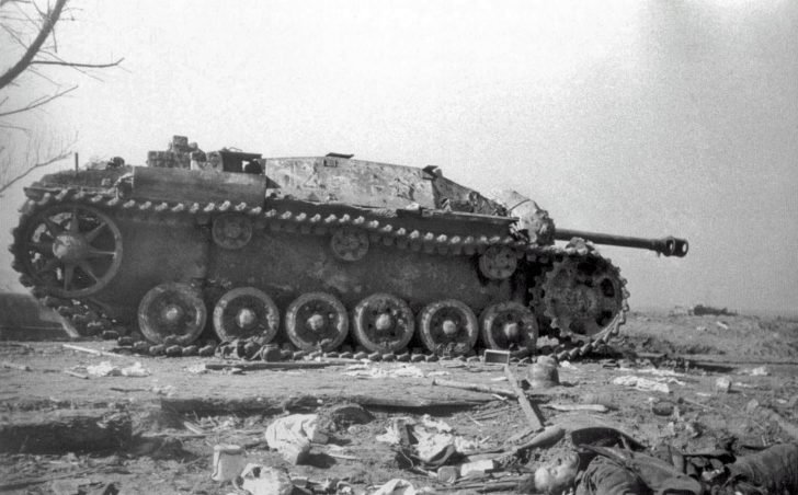 Destroyed StuG III assault gun