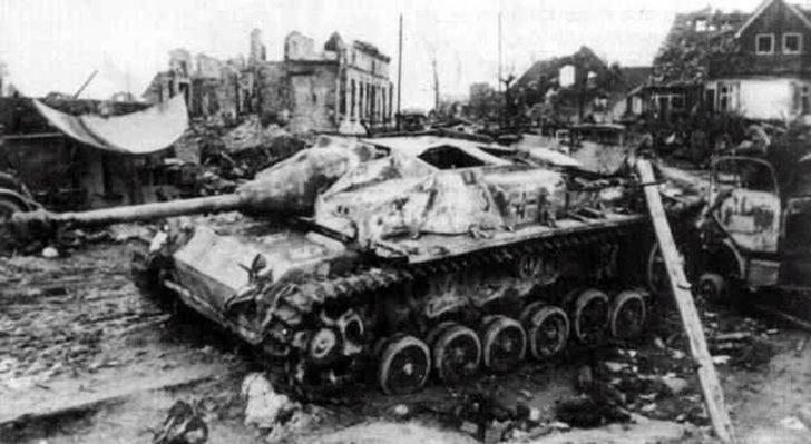 Destroyed StuG III assault gun