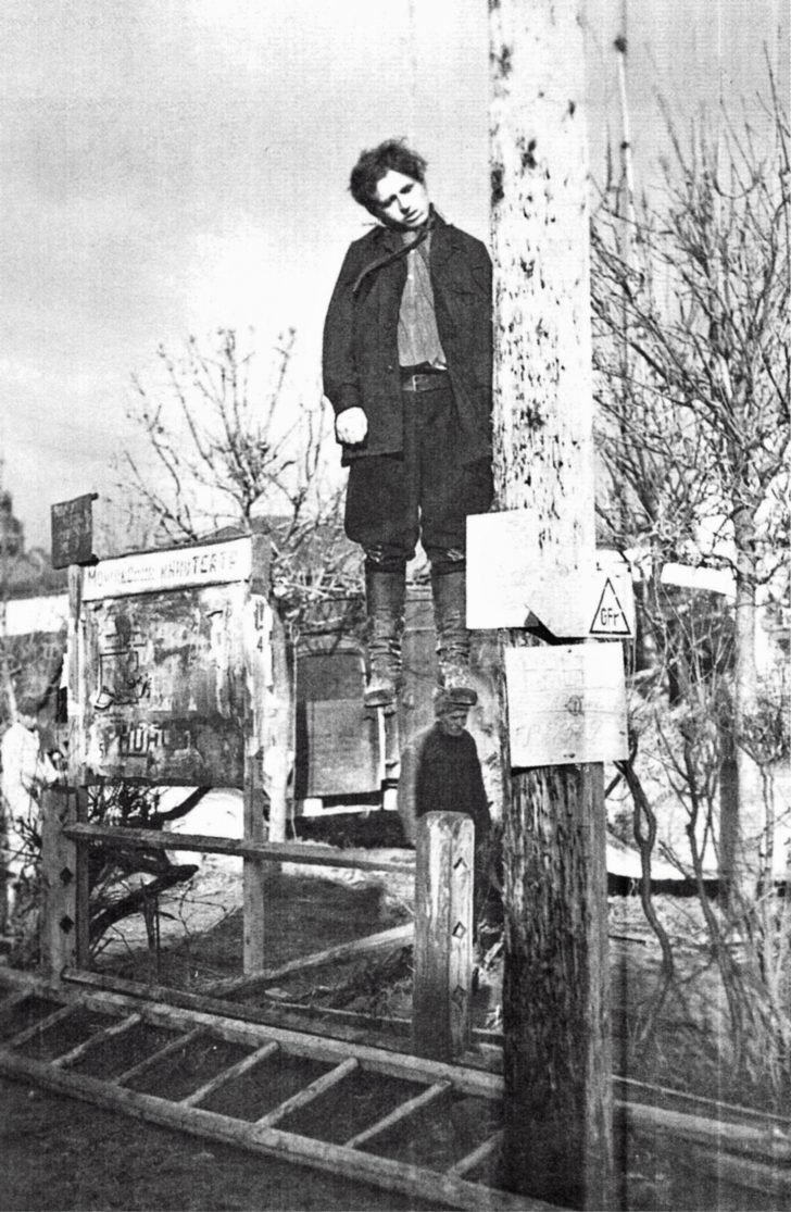 The hanged Russian partisan