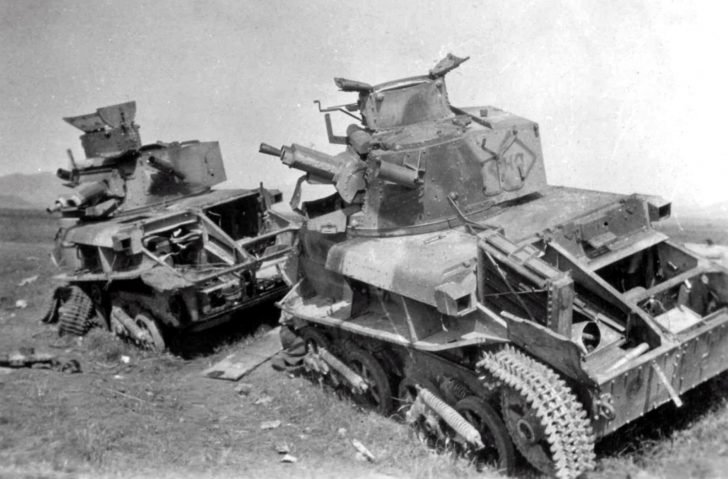 light tanks Vickers Mk VI