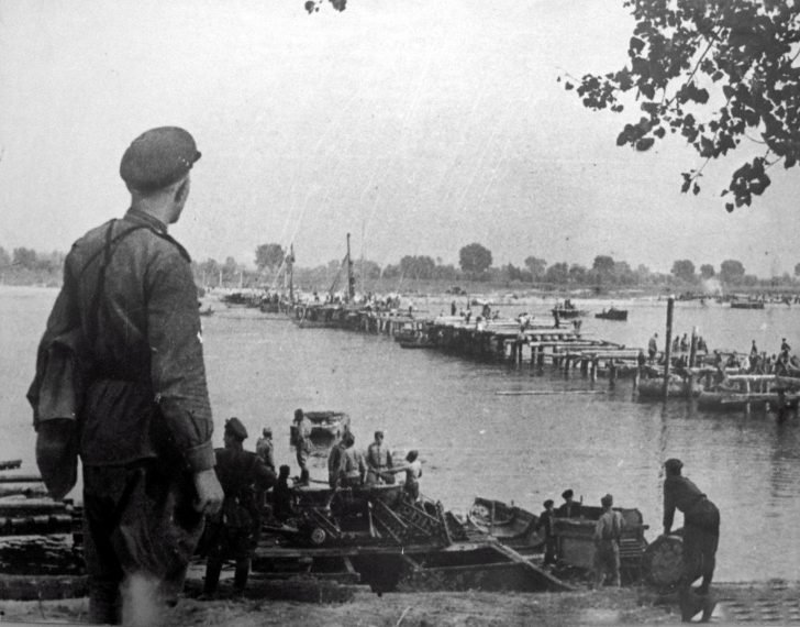 bridge  across the Wisla River