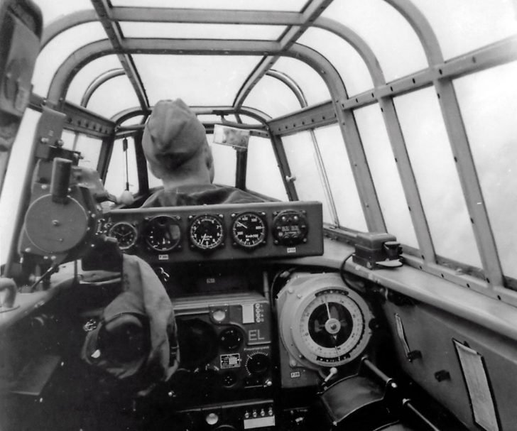 cockpit of the Messerschmitt Bf.110