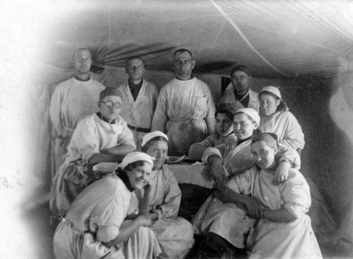 Staff of the military hospital