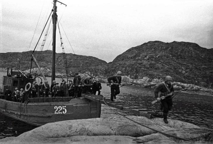 Landing of the sea assault