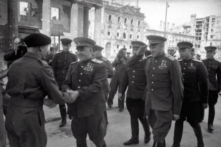 Georgy Zhukov, Konstantin Rokossovsky, Bernard Montgomery