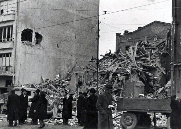 The destruction in Sofia